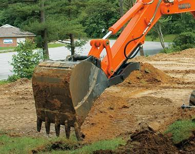 Breakout force1 KX080-3S 8.2 - 8.3 Tonne Zero Swing Excavator
