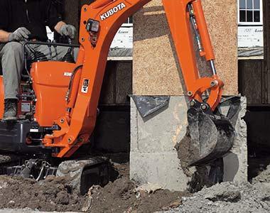 Bucket breakout force KX016-4 1.5 Tonne Zero Swing Excavator