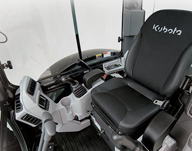 Delux interior KX057-4 5.4 - 5.6 Tonne Zero Swing Excavator