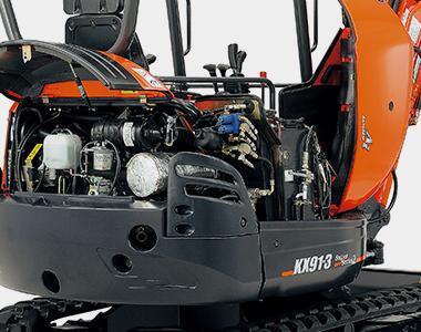 Single side1 KX91-3S2 3.2 - 3.4 Tonne Zero Swing Excavator
