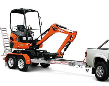 Truck trailer KX016-4 1.5 Tonne Zero Swing Excavator